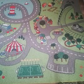 Dywan Stadsdel miasto dla dziecka z Ikei